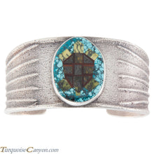 Load image into Gallery viewer, Navajo Native American Turquoise Sea Turtle Bracelet by Monty Claw SKU226676