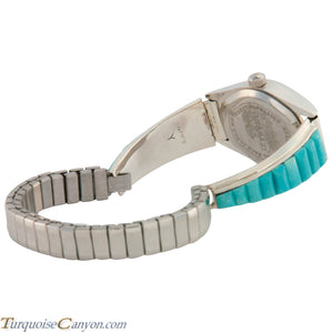 Navajo Native American Turquoise Watch Tips by Tom Yazzie SKU226707