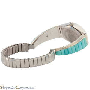 Navajo Native American Turquoise Watch Tips by Tom Yazzie SKU226708