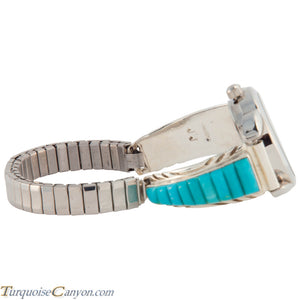 Navajo Native American Turquoise Watch Tips by Jessie Johnson SKU226709