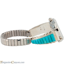 Load image into Gallery viewer, Navajo Native American Turquoise Watch Tips by Jessie Johnson SKU226709