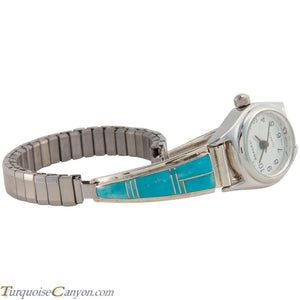 Navajo Native American Turquoise Inlay Watch Tips by Jessie Johnson SKU226711