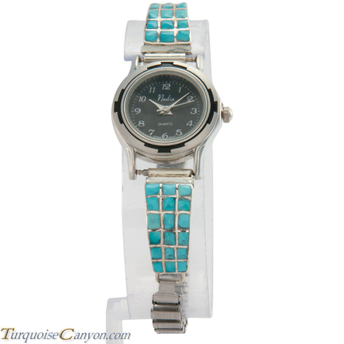 Zuni Native American Turquoise Watch Tips by Caroline Malani SKU226715