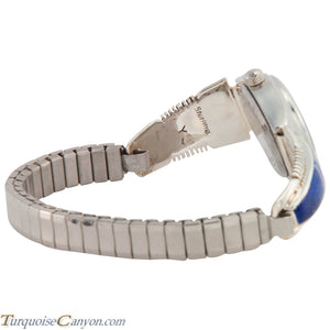 Navajo Native American Lapis Watch Tips by Arlene Yazzie SKU226719