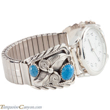 Load image into Gallery viewer, Navajo Native American Lapis Watch Tips by Annie Chapo SKU226725