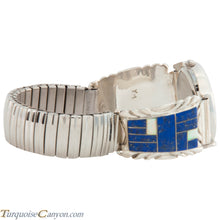 Load image into Gallery viewer, Navajo Native American Lapis and Lab Opal Watch Tips SKU226726