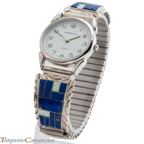 Navajo Native American Lapis and Lab Opal Watch Tips SKU226726