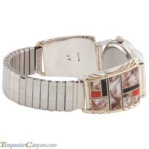 Navajo Native American Crazy Horse Magnesite Watch Tips by Yazzie SKU226727