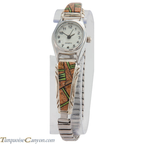 Navajo Native American Jasper and Gaspeite Watch Tips by Johnson SKU226730