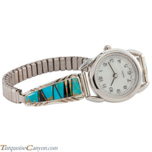 Load image into Gallery viewer, Navajo Native American Turquoise and Lab Opal Watch Tips SKU226732