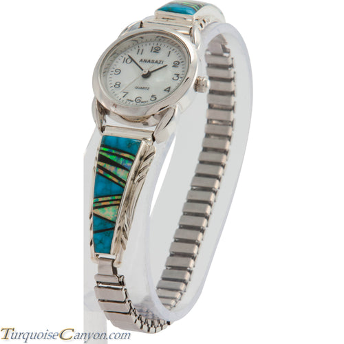 Navajo Native American Turquoise and Lab Opal Watch Tips SKU226734