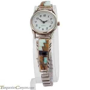 Navajo Native American Jasper and Lab Opal Inlay Watch Tips SKU226735