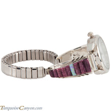 Load image into Gallery viewer, Navajo Native American Purple Shell and Lab Opal Watch Tips SKU226743