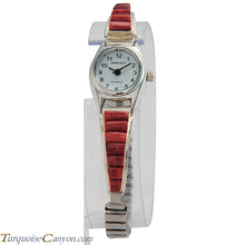 Load image into Gallery viewer, Navajo Native American Orange Spiny Oyster Shell Watch Tips SKU226745