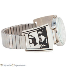 Load image into Gallery viewer, Navajo Native American Hogan and Horse Silver Watch Tips by Singer SKU226749