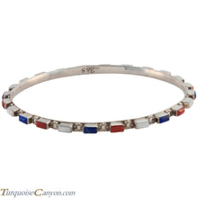Load image into Gallery viewer, Zuni Native American Lapis and Coral Bangle Bracelet by Bewanika SKU226774