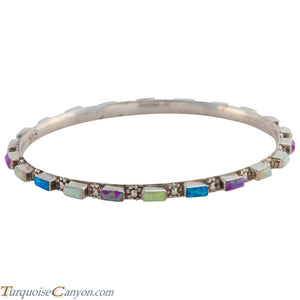 Zuni Native American Lab Opal Bangle Bracelet by Bewanika SKU226775