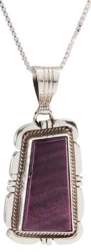 Navajo Native American Purple Spiny Shell Pendant and Necklace SKU226790