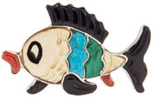 Load image into Gallery viewer, Zuni Native American Turquoise Inlay Fish Pin and Pendant SKU226824