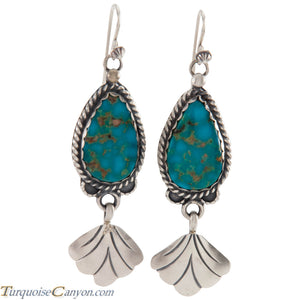 Navajo Native American Turquoise Mountain Earrings by Willeto SKU226839