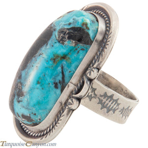 Navajo Native American Indian Mountain Turquoise Ring Size 9 1/2 SKU226878