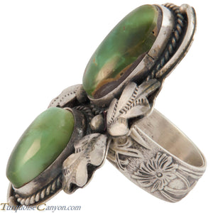 Navajo Native American Green Royston Turquoise Ring Size 7 3/4 SKU226880