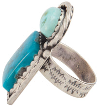 Load image into Gallery viewer, Navajo Native American Kingman Carico Lake Turquoise Ring Size 8 1/4 SKU226882