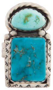 Navajo Native American Kingman Carico Lake Turquoise Ring Size 8 1/4 SKU226882