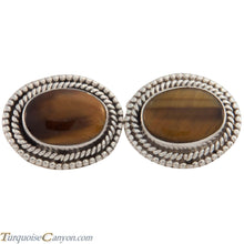 Load image into Gallery viewer, Navajo Native American Tiger Eye Cuff Links by Martha Willeto SKU226907