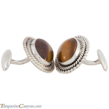 Load image into Gallery viewer, Navajo Native American Tiger Eye Cuff Links by Martha Willeto SKU226908
