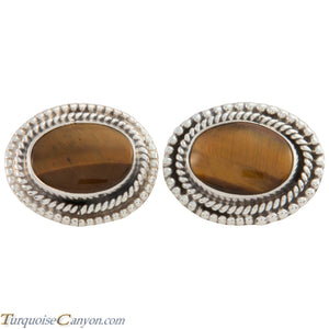 Navajo Native American Tiger Eye Cuff Links by Martha Willeto SKU226908