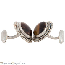 Load image into Gallery viewer, Navajo Native American Tiger Eye Cuff Links by Martha Willeto SKU226909