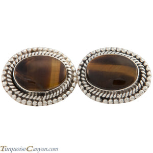 Navajo Native American Tiger Eye Cuff Links by Martha Willeto SKU226909
