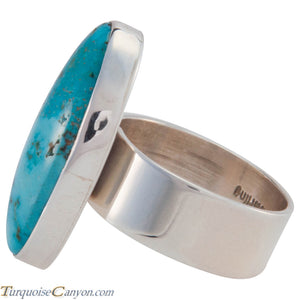 Navajo Native American Kingman Turquoise Ring Size 8 by Elgin Tom SKU226972