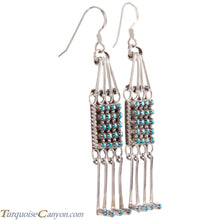 Load image into Gallery viewer, Zuni Native American Sleeping Beauty Turquoise Petit Point Earrings SKU227088