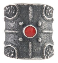 Load image into Gallery viewer, Navajo Native American Red Coral Ring Size 9 3/4 by Monty Claw SKU227180