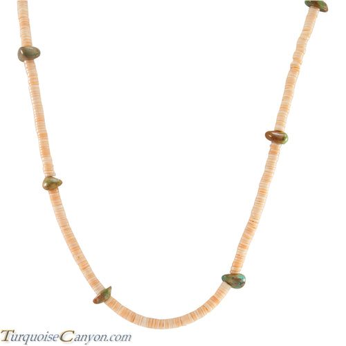 Santo Domingo Kewa Heishi Shell and Royston Turquoise Necklace SKU227187