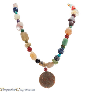 Santo Domingo Kewa Pueblo Turquoise Jasper Multi Stone Necklace SKU227190