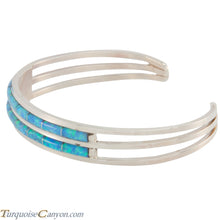 Load image into Gallery viewer, Zuni Native American Lab Opal Inlay Bracelet by Wallace SKU227222
