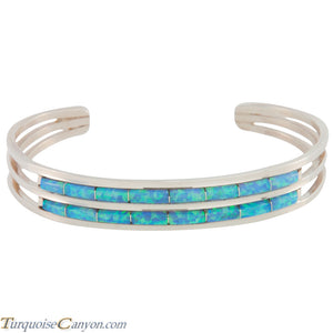 Zuni Native American Lab Opal Inlay Bracelet by Wallace SKU227222