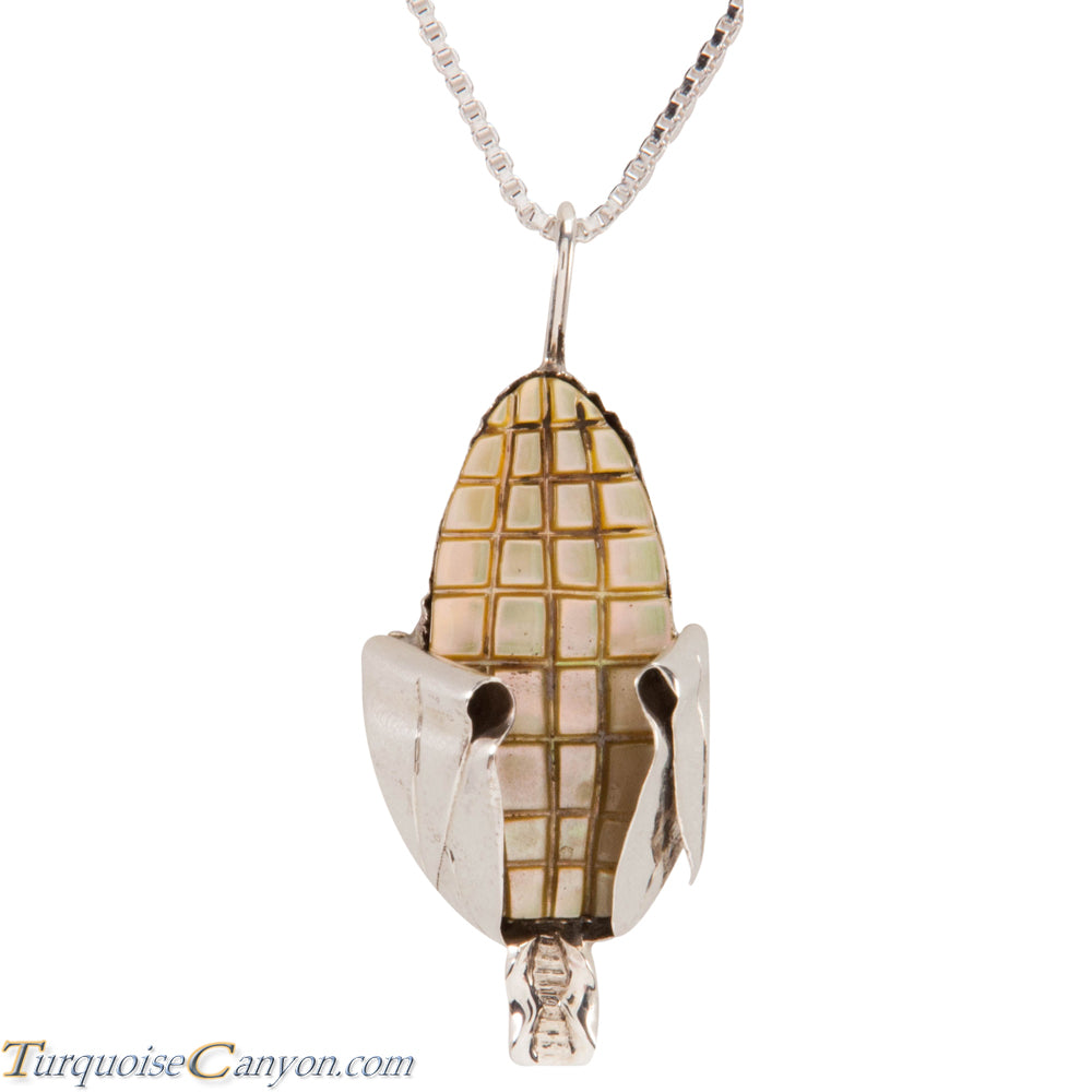 Zuni Native American Yellow Shell Corn Pendant Necklace SKU227351
