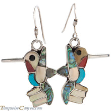 Load image into Gallery viewer, Zuni Native American Turquoise Hummingbird Necklace and Earrings SKU227394