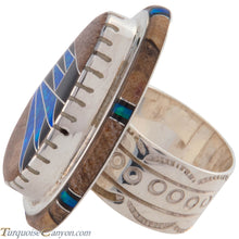 Load image into Gallery viewer, Navajo Native American Lab Opal Inlay Ring Size 6 by Mel Benally SKU227409