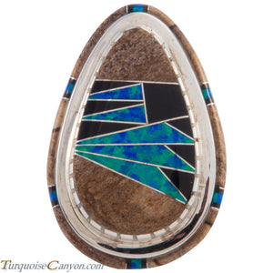 Navajo Native American Lab Opal Inlay Ring Size 6 by Mel Benally SKU227409