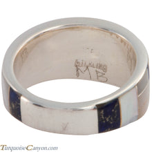 Load image into Gallery viewer, Navajo Native American Lapis and Mother of Pearl Ring Size 10 1/4 SKU227416