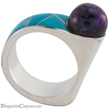 Load image into Gallery viewer, Navajo Native American Turquoise and Sugilite Ring Size 8 1/4 SKU227418