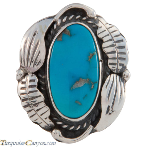 Navajo Native American Sleeping Beauty Turquoise Ring Size 8 SKU227424