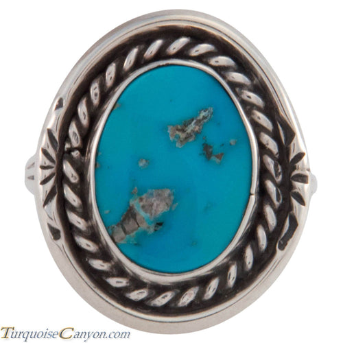 Navajo Native American Sleeping Beauty Turquoise Ring Size 8 SKU227426