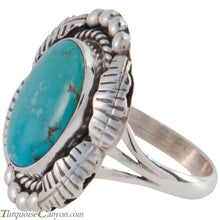 Load image into Gallery viewer, Navajo Native American Sleeping Beauty Turquoise Ring Size 7 1/2 SKU227427