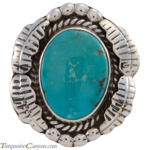Navajo Native American Sleeping Beauty Turquoise Ring Size 7 1/2 SKU227427